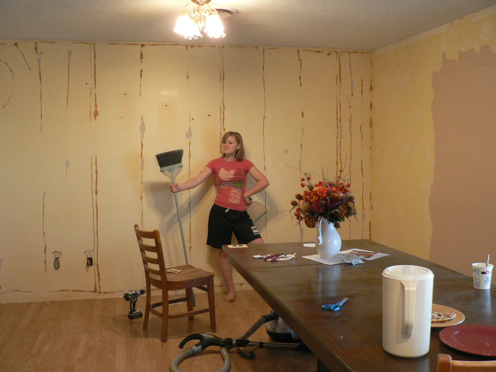 Walls Painted Over Wallpaper Glue