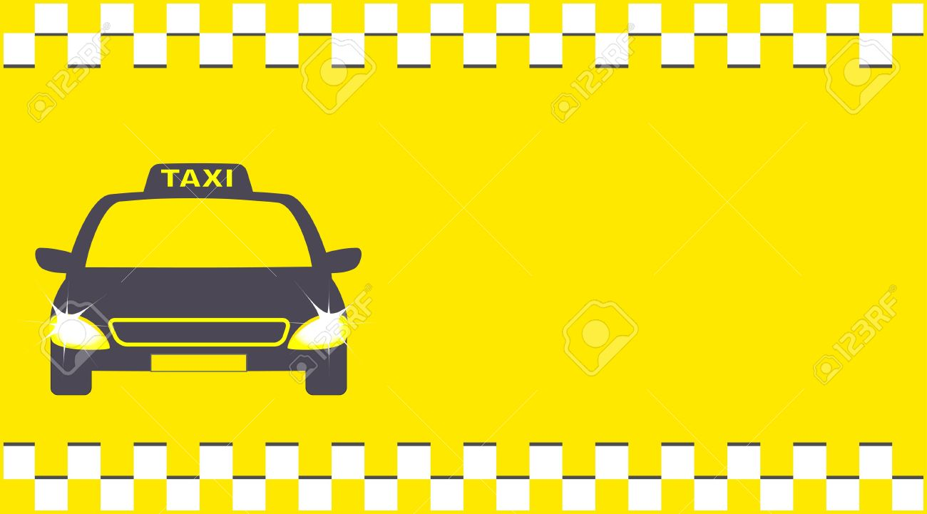 Yellow Transport Background And Cab With Taxi Sign Royalty 1300x721