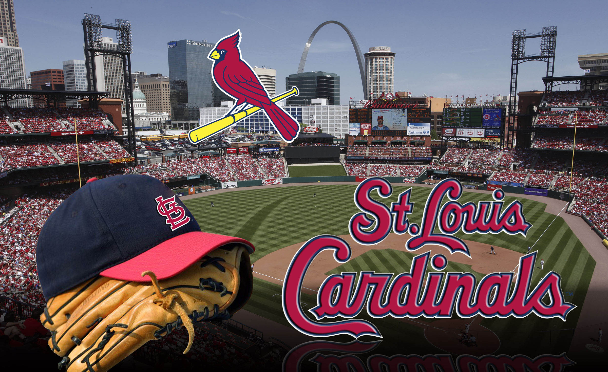 Cardinals baseball wallpaper wallpapersafari - Arizona cardinals screensaver free ...