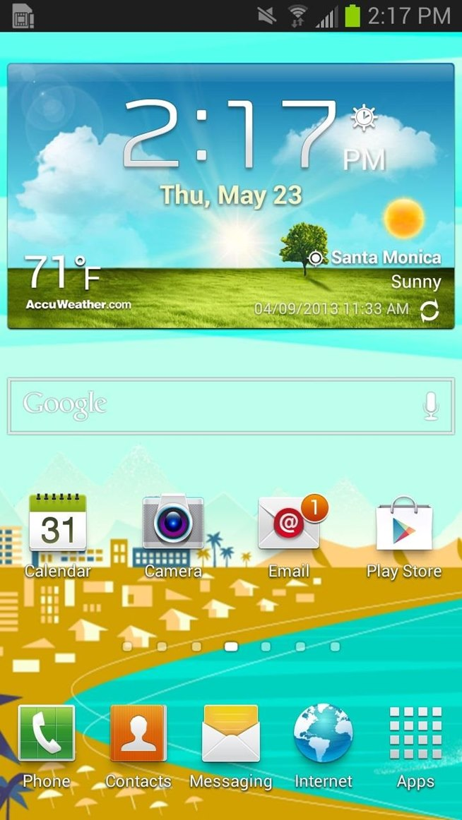 Rotating Google Now Wallpapers on Your Samsung Galaxy S3 Home Screen 654x1162