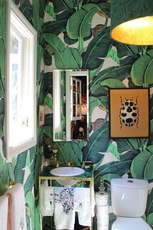 fun of it  Harry Hinson Hinson Co Wallpaper MARTINIQUE IN GREEN 500x753