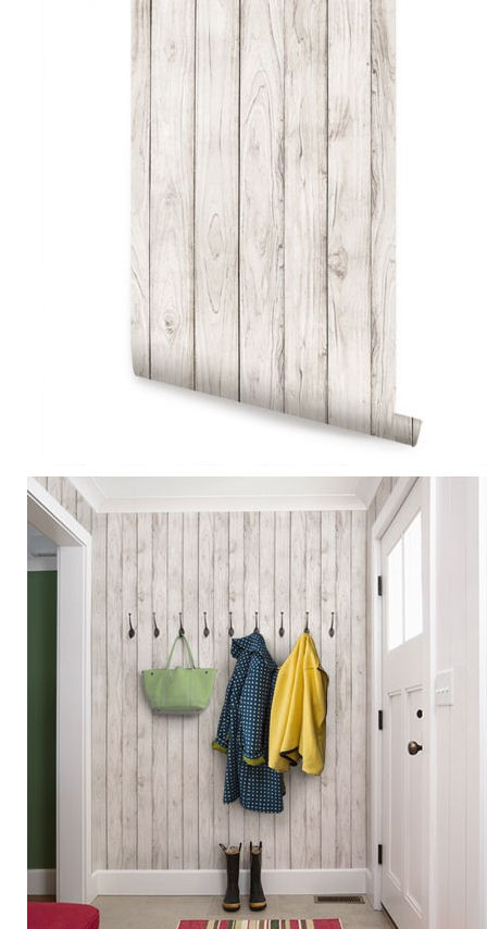 Wood White Peel and Stick Wallpaper   Wall Sticker Outlet 448x854