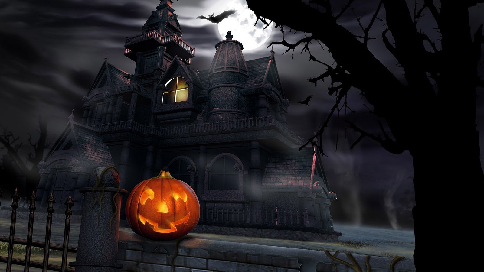 Halloween Scary Animated Desktop Wallpaper Mega Wallpapers 1600x900