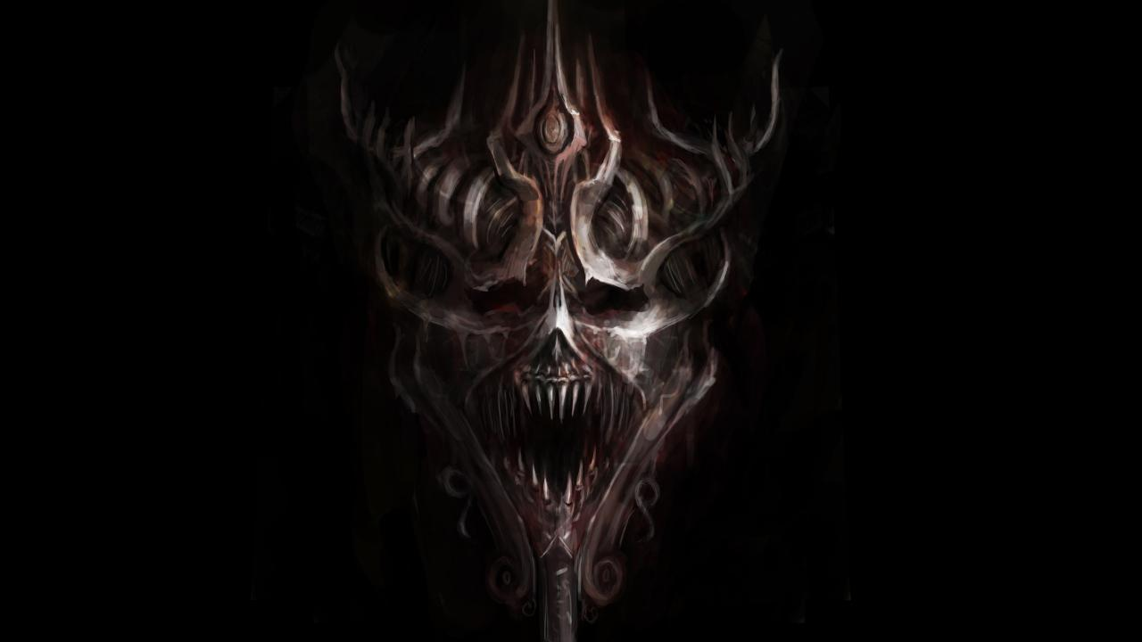 Free Download Evil Skull Wallpapers 1280x720 For Your
