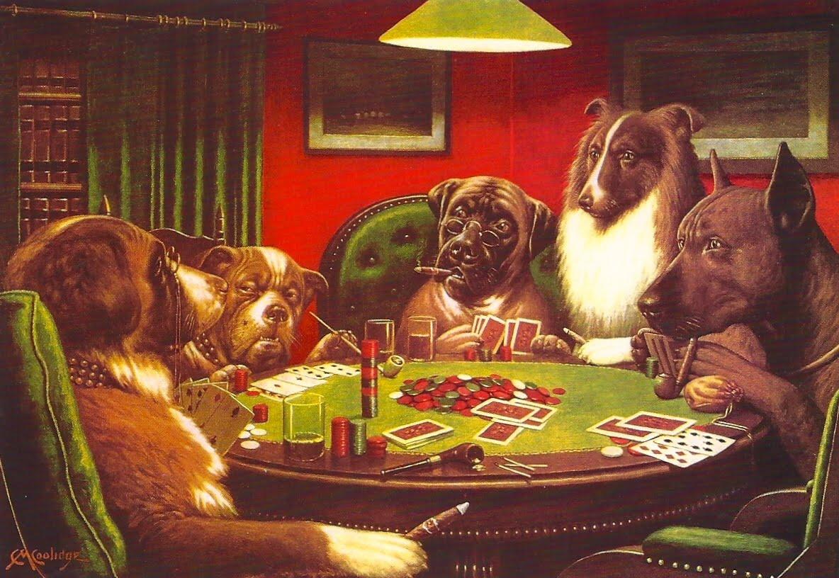 Dogs Playing Poker Wallpaper Wallpapersafari