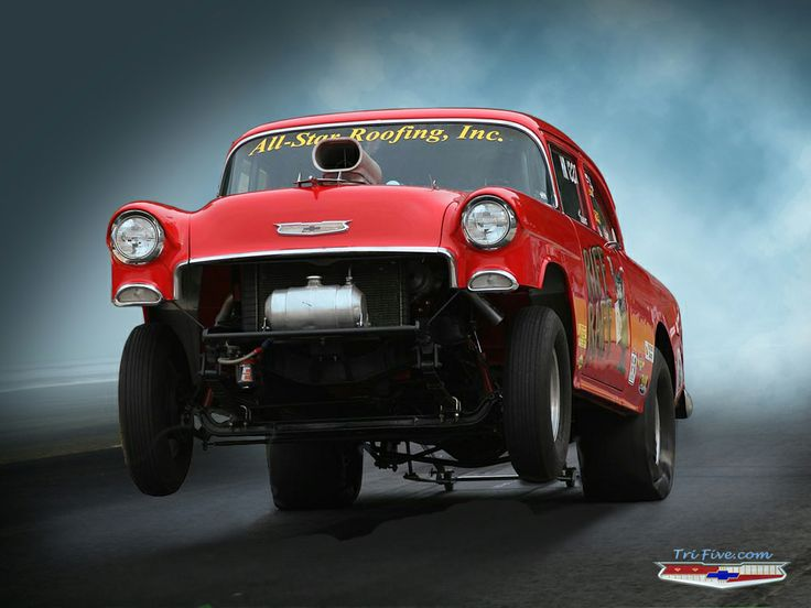 55 Chevy Drag Car Chevy Powerrrrr Pinterest 736x552