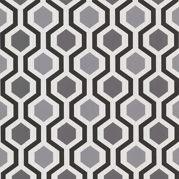 Grey Modern Geometric   Marina   Kitchen Bath Resource 3 Wallpaper 600x600