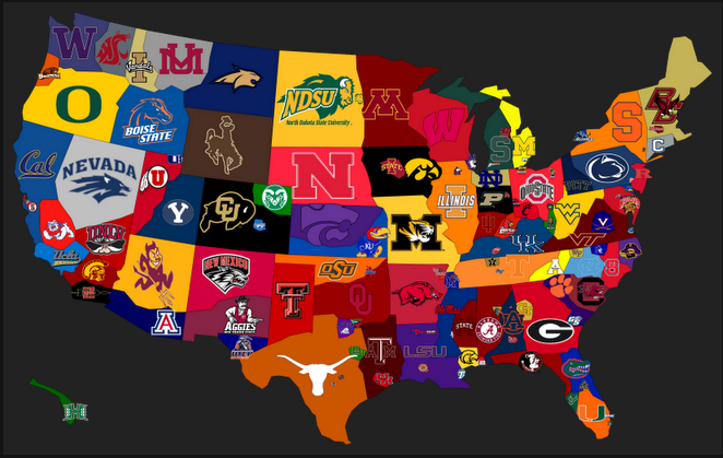 College Football Rankings by State A through M 662x419