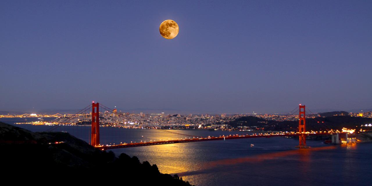 Golden Gate Bridge Full Moon San Francisco James Turley 1280x640