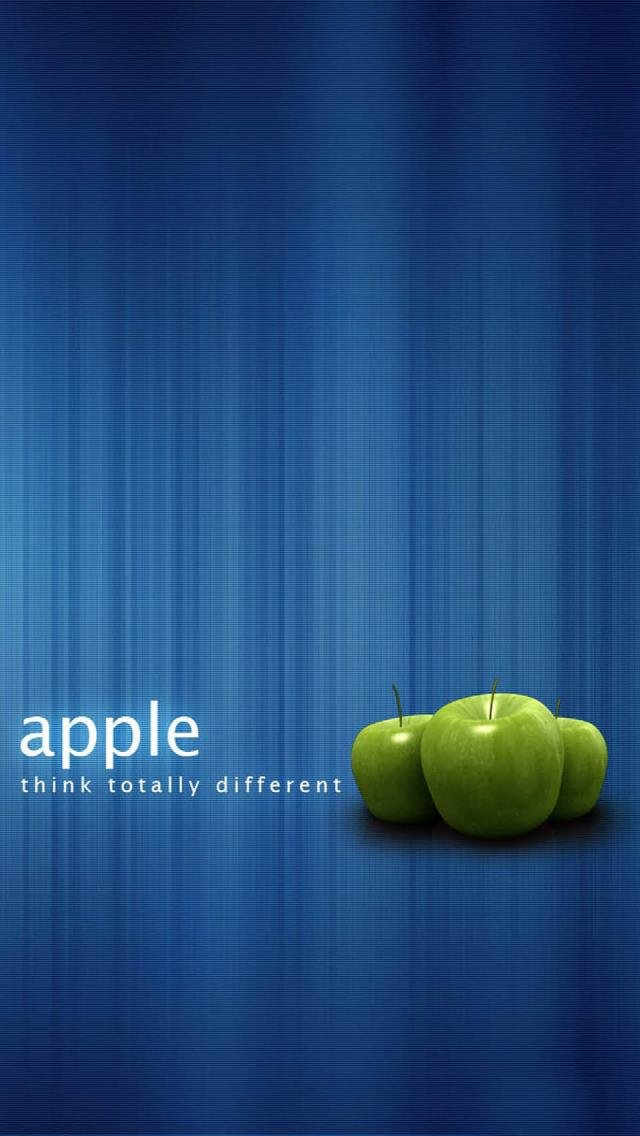 Apple Think Totally Different   The iPhone Wallpapers 640x1136