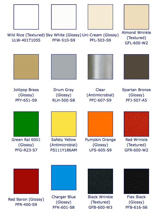 You are here Home Custom Fabrication Color Powder Coating 526x692
