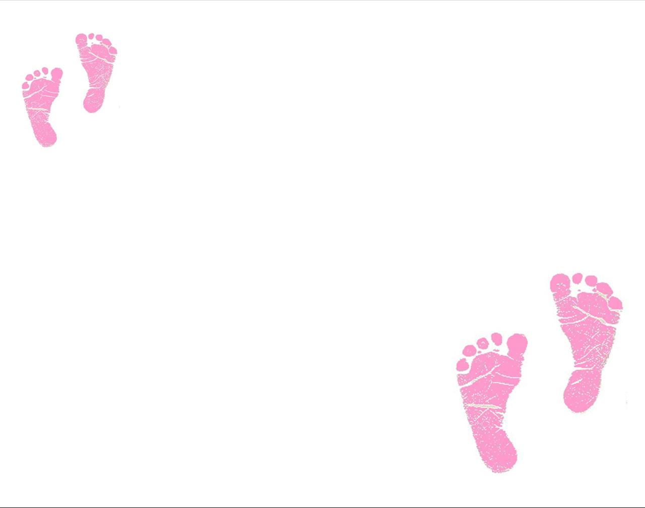 Free Download Baby Ink Footprint Girl Boy Picture Frame