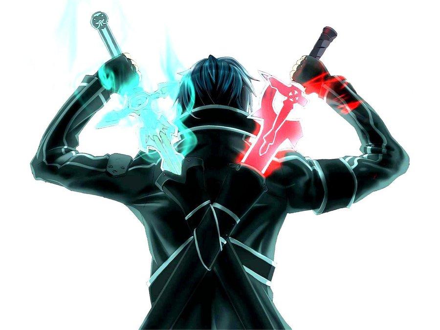 Sword art online Kirito Swords by VitorAmorosoUzu 900x675
