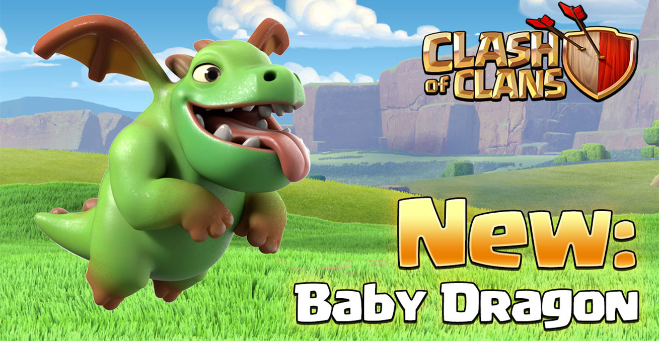 Clash of Clans Baby Dragon Wallpaper Full HD Pictures 1309x678