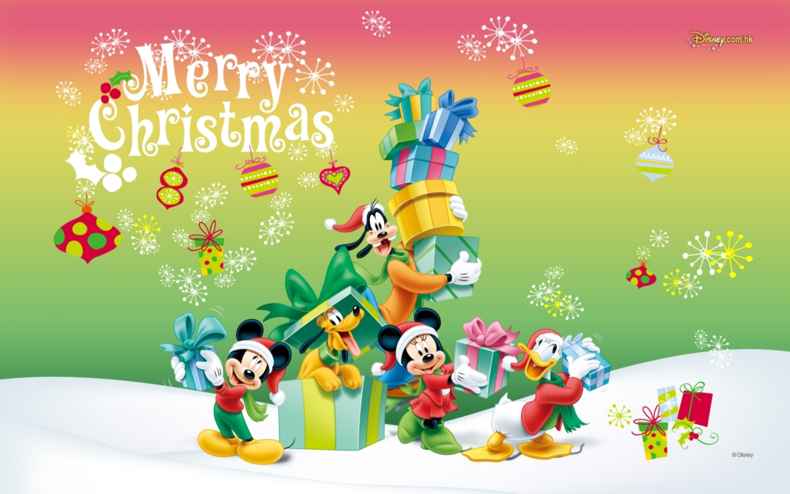Cartoon characters on Christmas wallpapers and images   wallpapers 2560x1600
