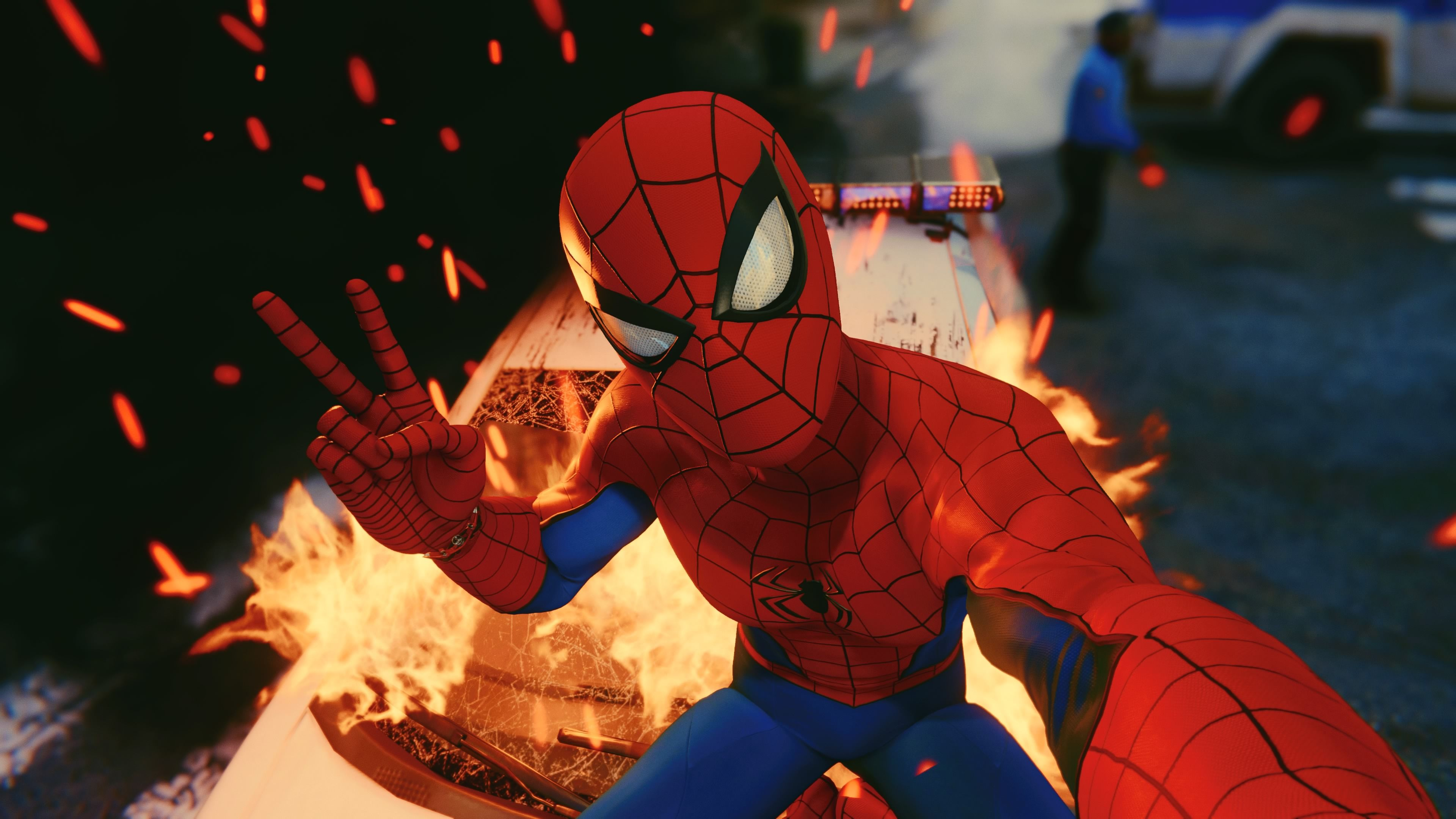Spiderman Taking Selfie Ps4 4k 2018 superheroes wallpapers 3840x2160