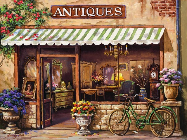 Antique Shop Wall Mural   Traditional   Wallpaper   by Murals Your Way 640x480