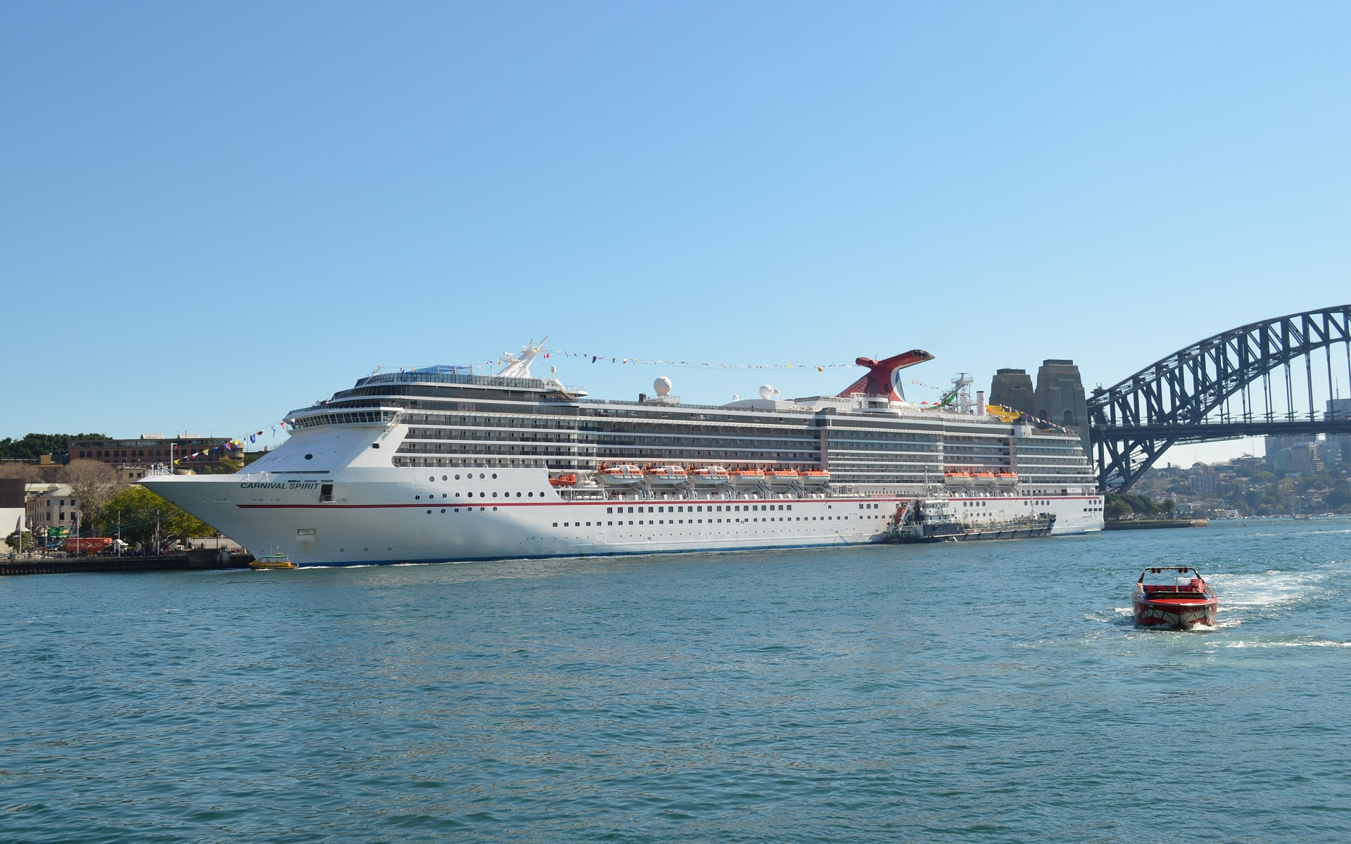Carnival Spirit Cruise Ship Ship Boat Vehicle Sydney Harbour Wallpaper 1920x1200