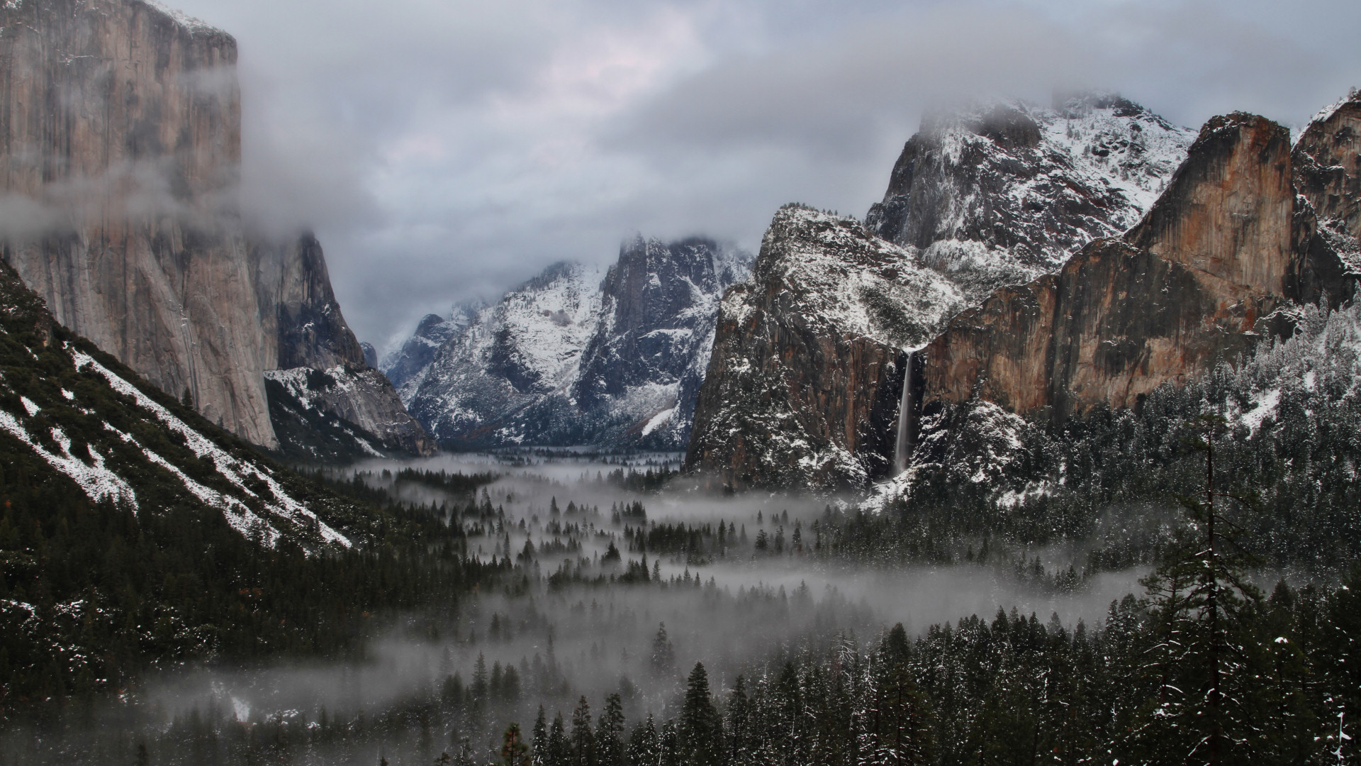 Yosemite Wallpapers   Yosemite Valley in Winter 1920x1080