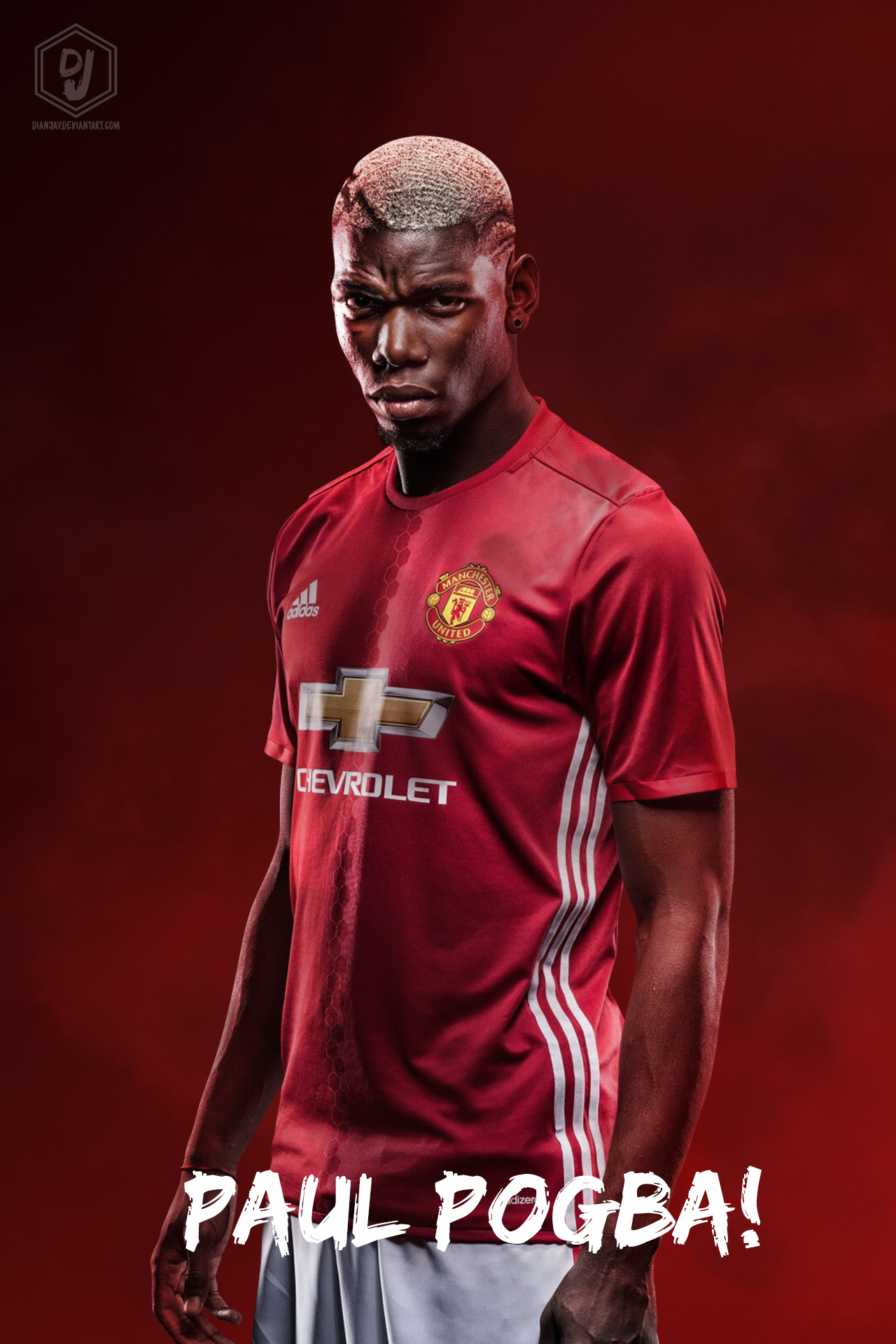 Paul Pogba Manchester United 201617 Wallpaper by dianjay on 1280x1920