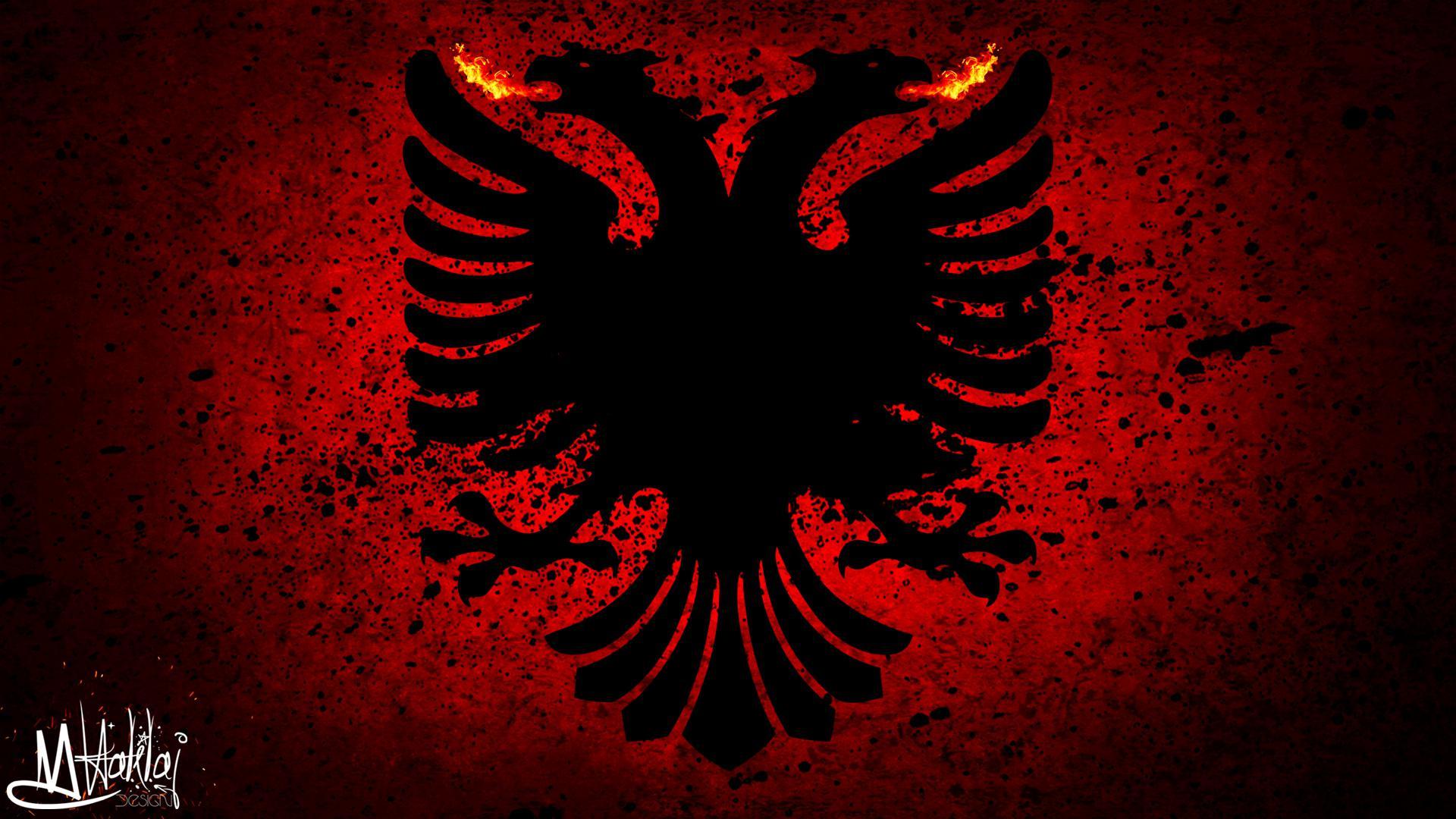 Albania Flag Wallpaper Hd
