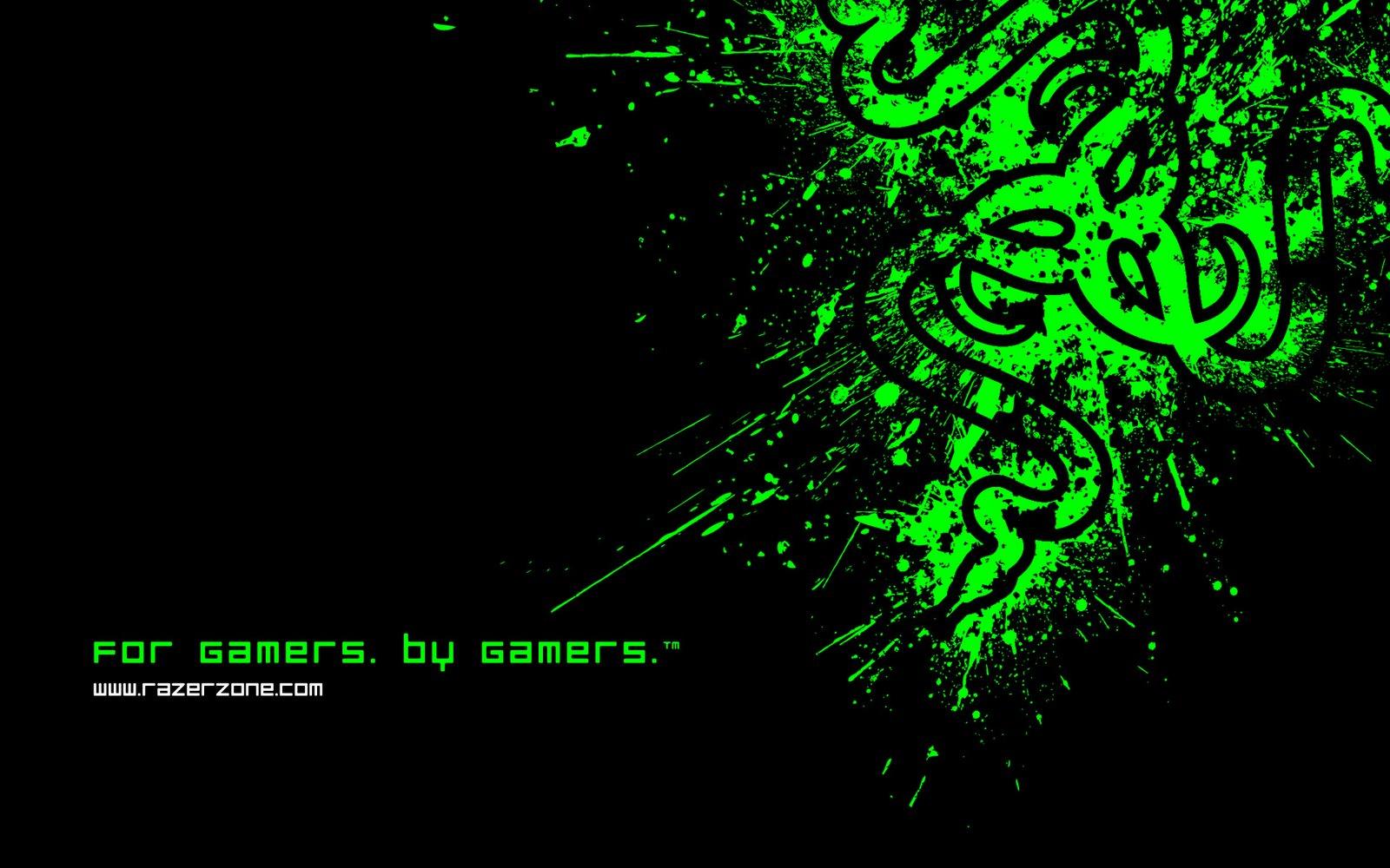 Wallpapers Box Razer Black Green Logo 1920x1200 HD Wallpapers 1600x1000