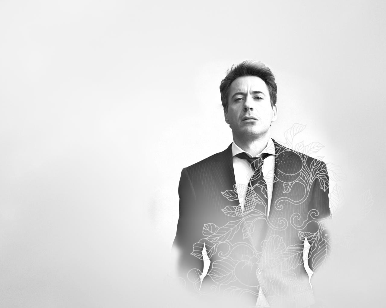Robert Downey Jr Photoshoot Black And White