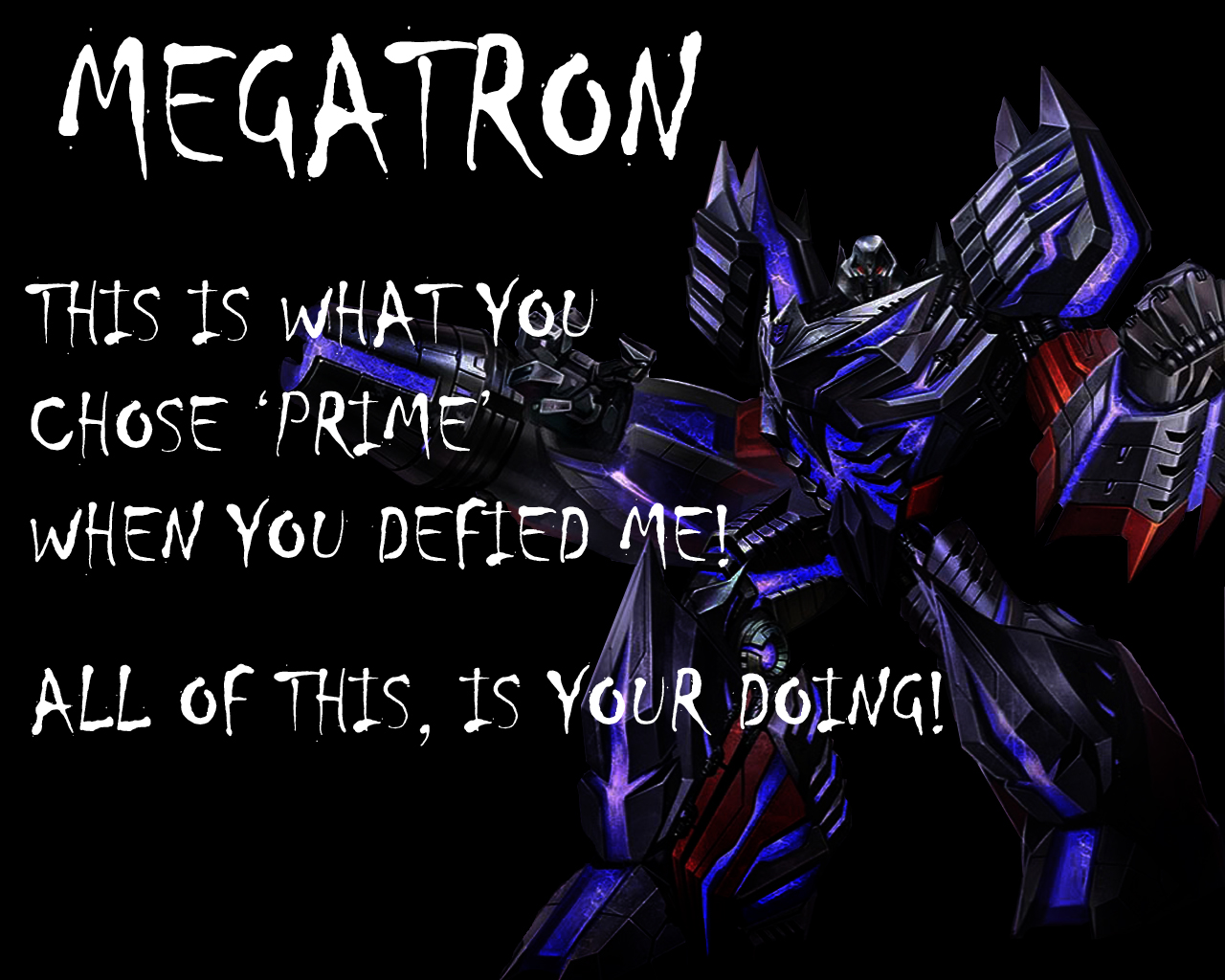 Fall Of Cybertron Megatron Wallpaper by Lordstrscream94 1280x1024