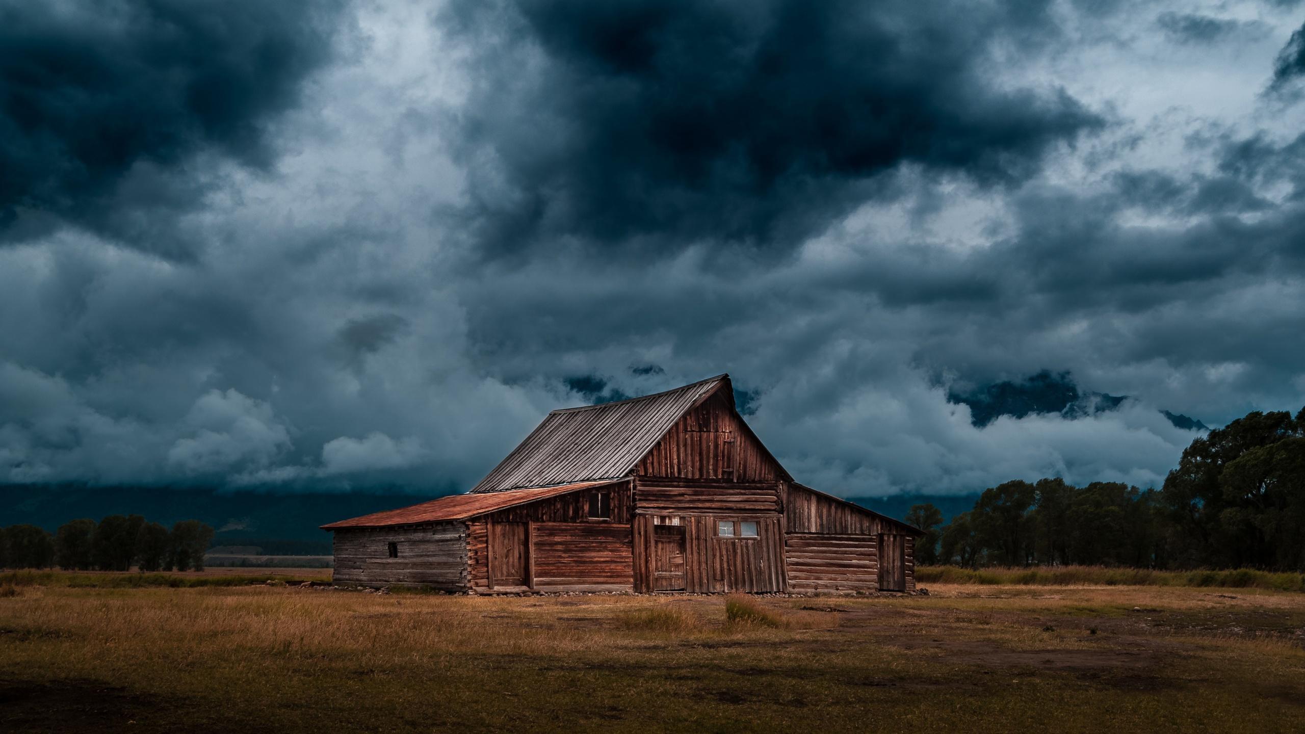 Dark Storm Clouds HD wallpaper 2560x1440