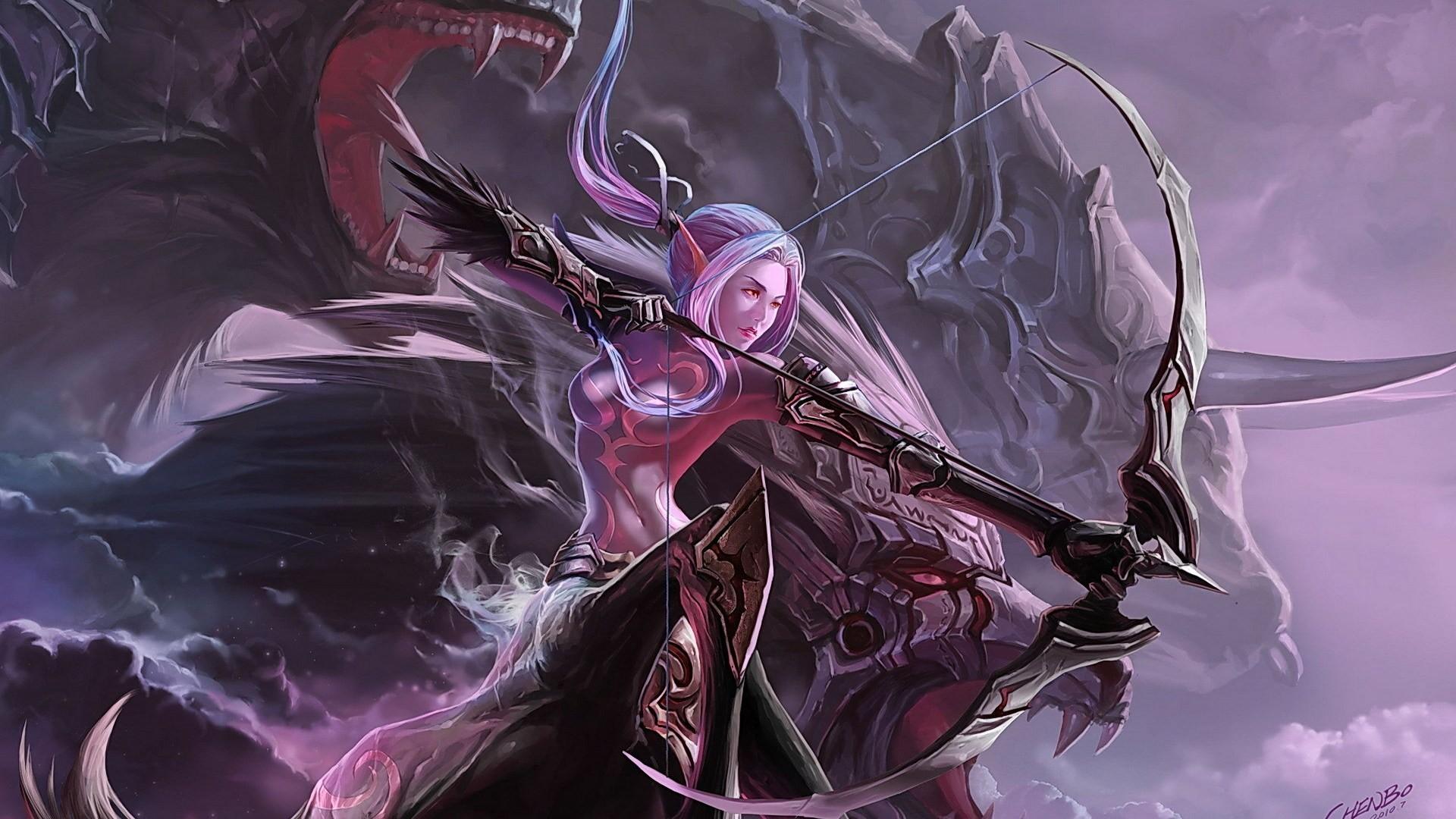 Archer Warrior Elves Fantasy Art Wallpapers Hd: WallpaperSafari