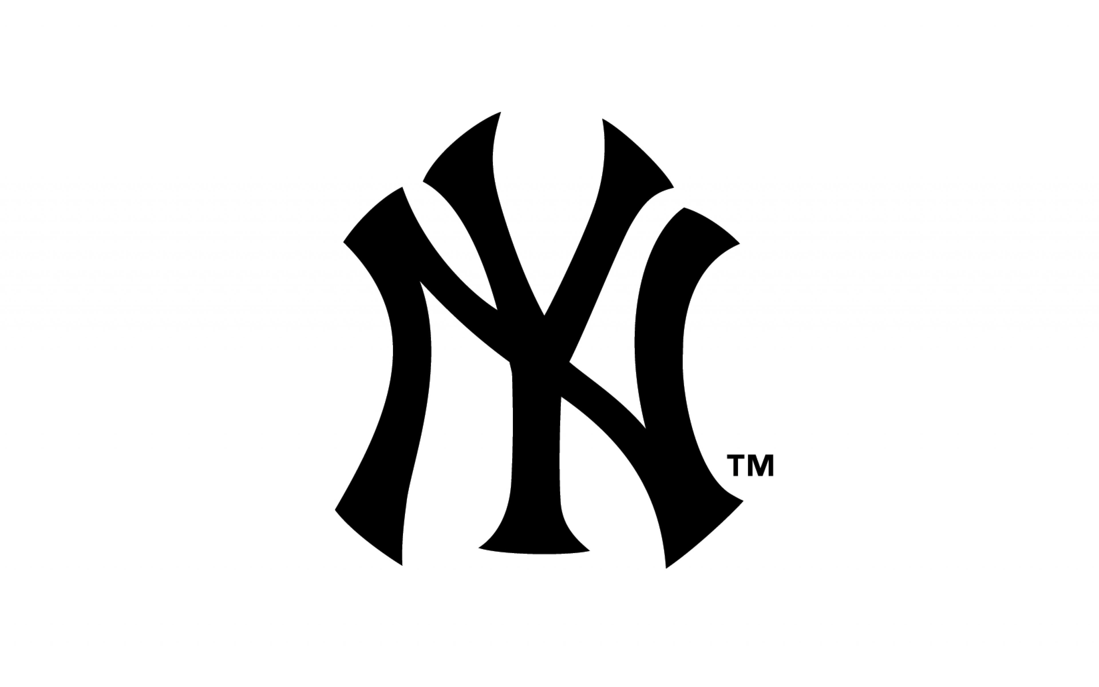 Download Wallpaper 3840x2400 New york yankees Logo 3840x2400