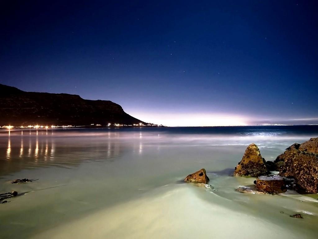 HD wallpaper Desktop Wallpaper Beach Scenes Beach At Night by 1024x768
