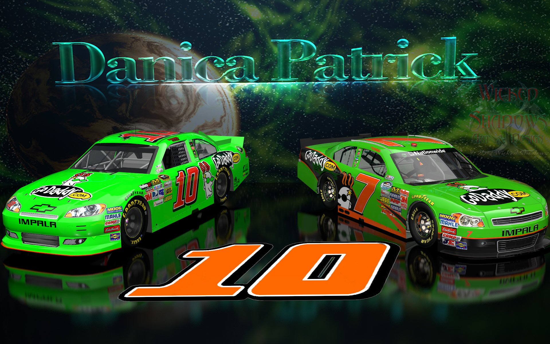 Danica Patrick NNS And Cup Go Daddy Cars wallpaper 16x10 1920x1200