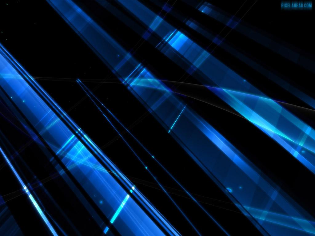 Hd Wallpaper 1920x1080 Black Blue: Black And Blue Abstract Wallpaper