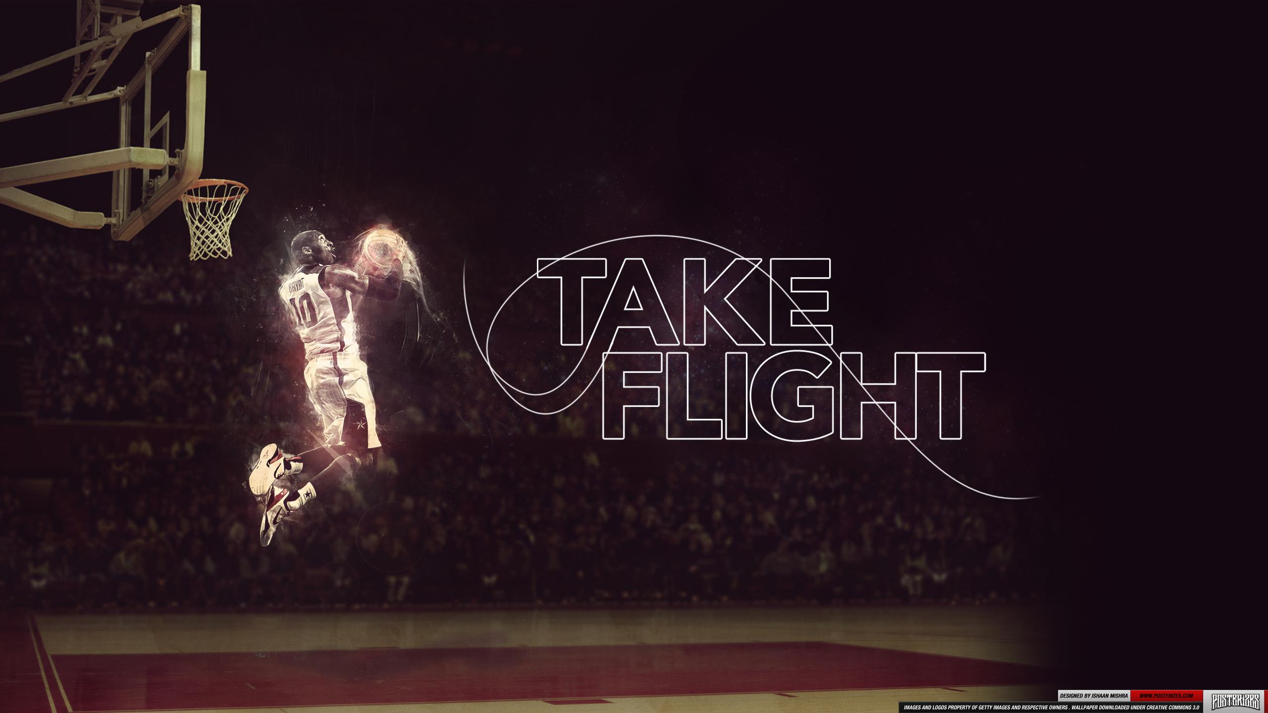 Air Jordan Flight Logo Wallpaper Kobe bryant take flight 2560x1440