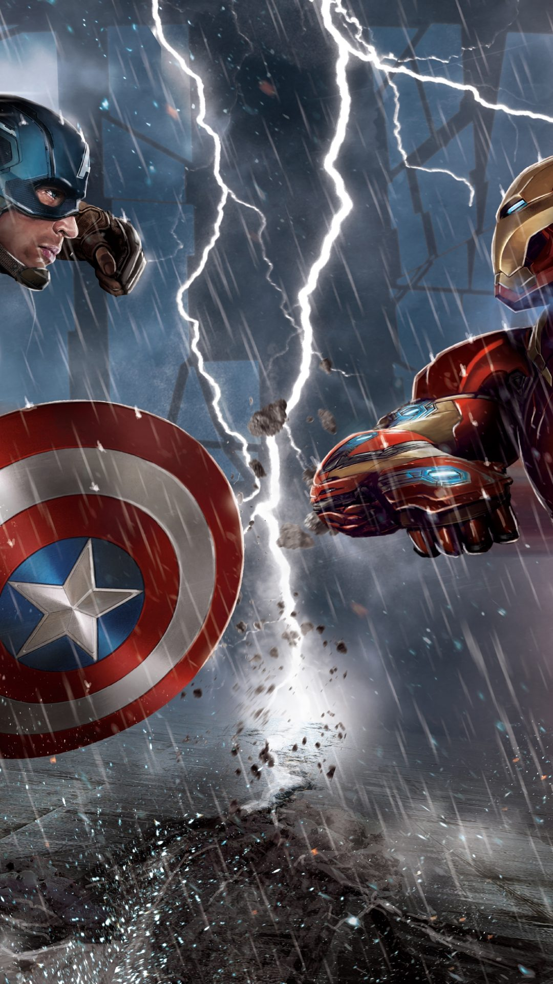Free Download Iron Man Vs Captain America Wallpapers 1080x1920