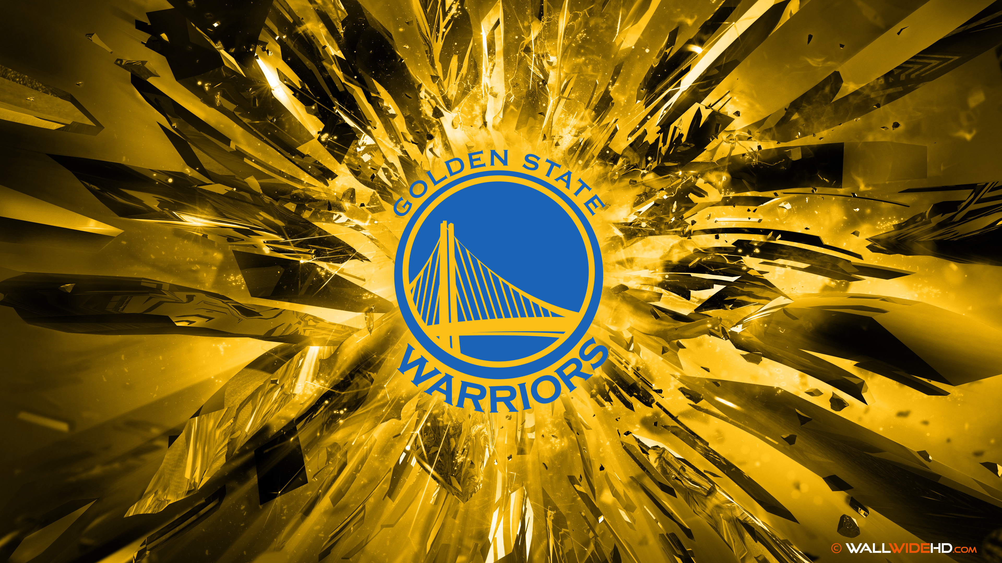 Golden State Warriors 2015 Logo 4K Wallpaper by wallpaperspalcom 3840x2160