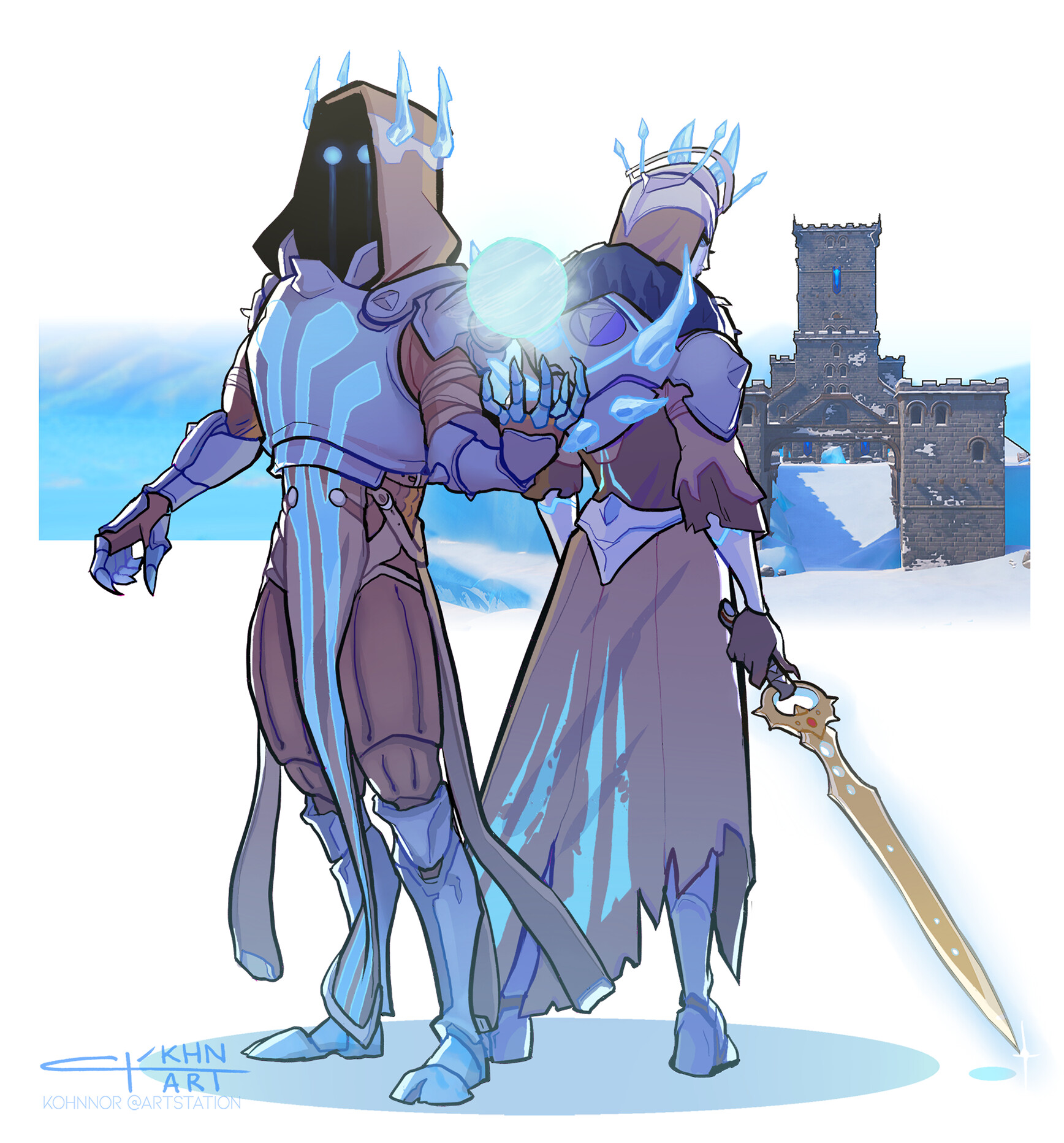 Ice King and Queen Fortnite Concept Art by Claudia Tomasi 4527 1736x1863