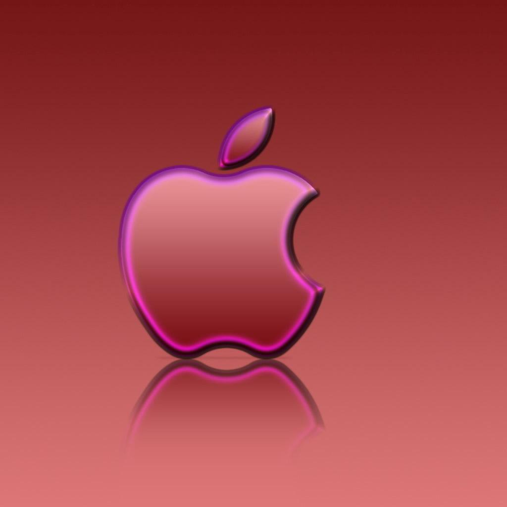 Iphone Wallpaper Pink: Hot Pink Apple Wallpaper