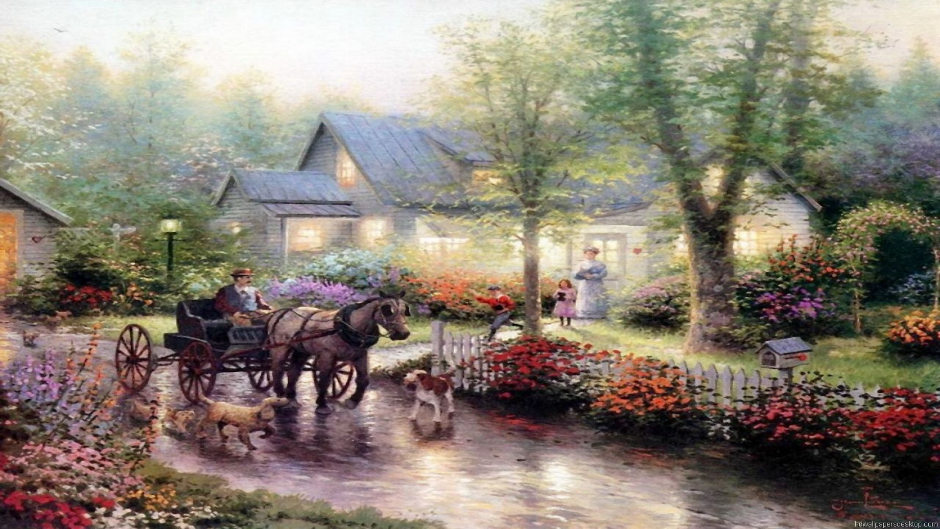 thomas kinkade wallpaper 1920x1080 - photo #7