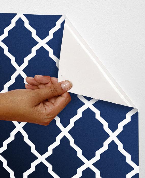 Removable self adhesive modern vinyl Wallpaper wall sticker   Lattice 570x702