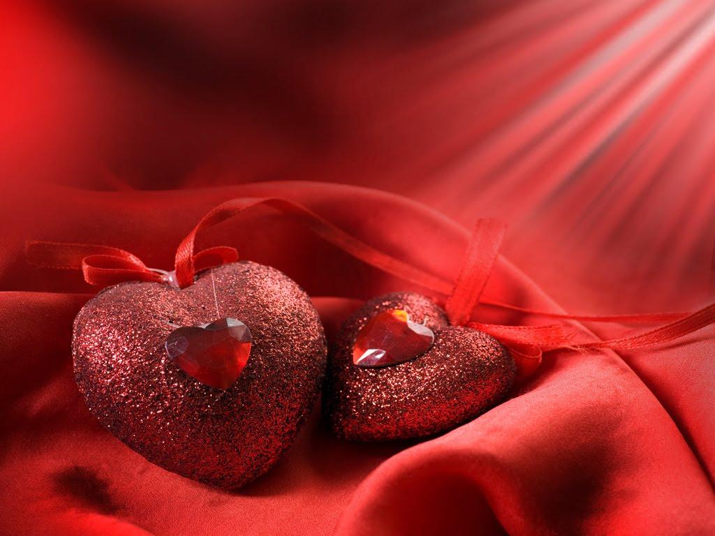 Valentine Hearts wallpaper 1024x768
