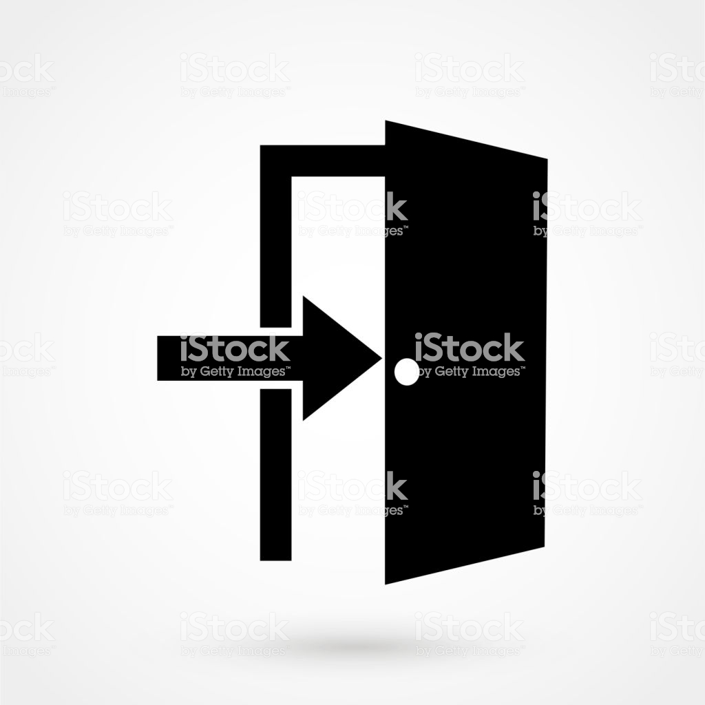 Exit Icon Isolated On Background Modern Flat Pictogram Business 1024x1024