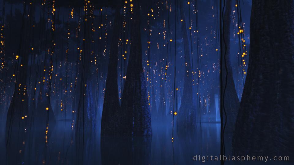 Digital Blasphemy 3D Wallpaper Bayou Night by Ryan Bliss 960x540