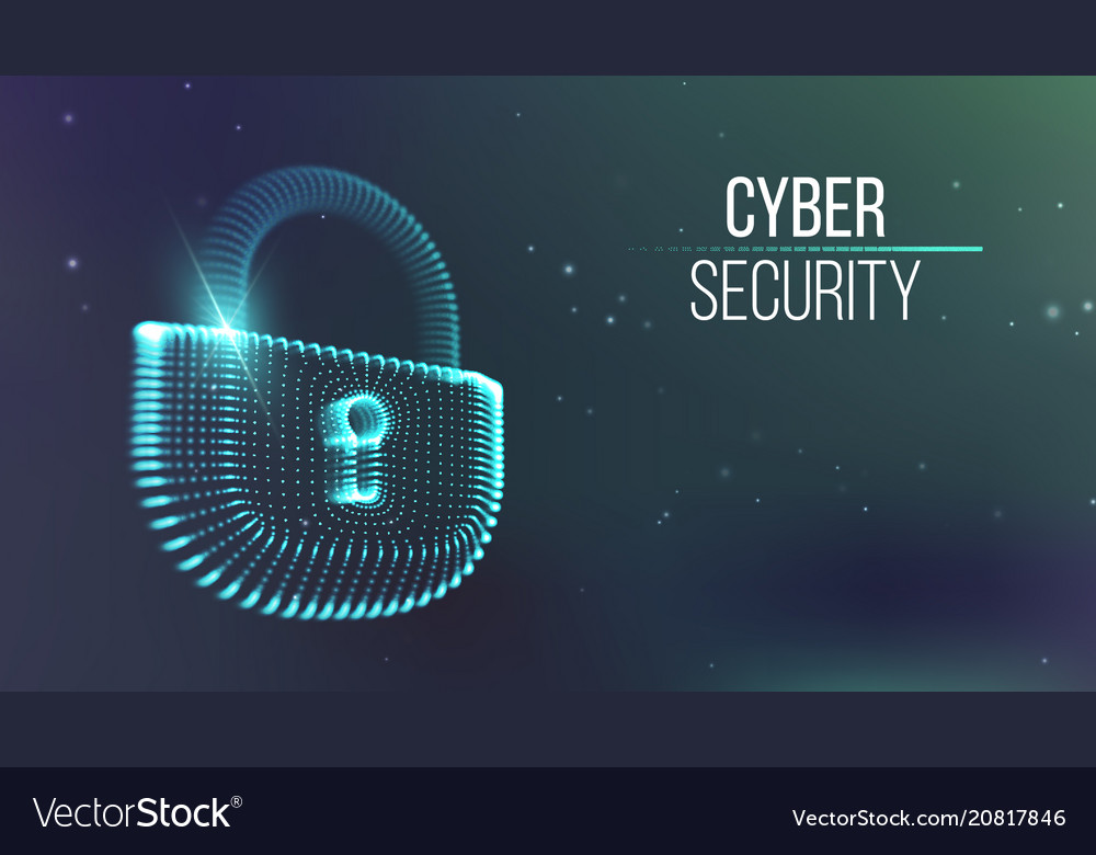 Copter internet cyber security background cyber Vector Image 1000x780