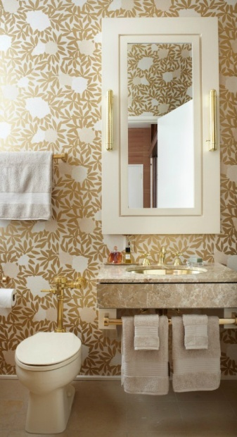 Gold floral wallpaper Jessica Lagrange Wallpaper by Osbourne 337x620