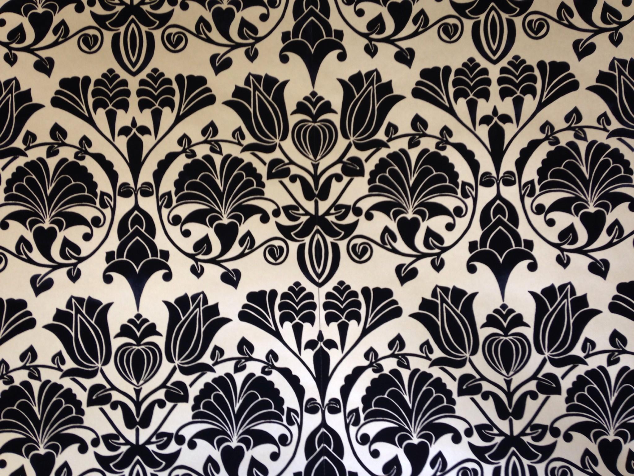 Black Flock Wallpaper Wallpapersafari