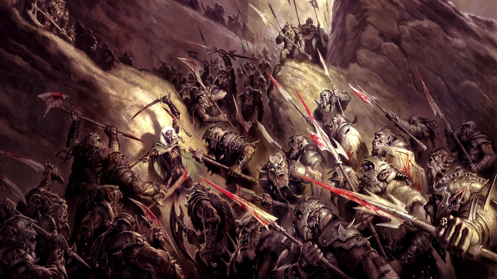Orc battle HD Wallpaper 1920x1080 1920x1080