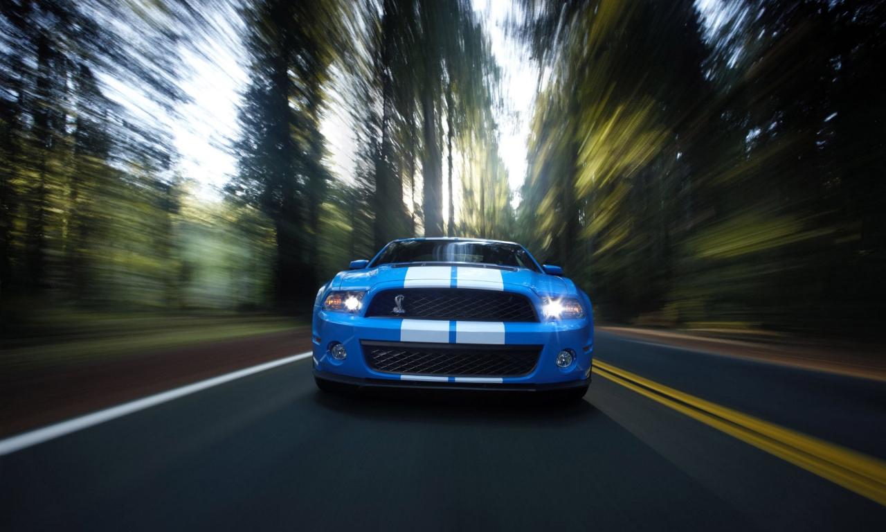 Wallpapers Ford Mustang GT500 Shelby Widescren Cool Wallpaper HD 1280x768
