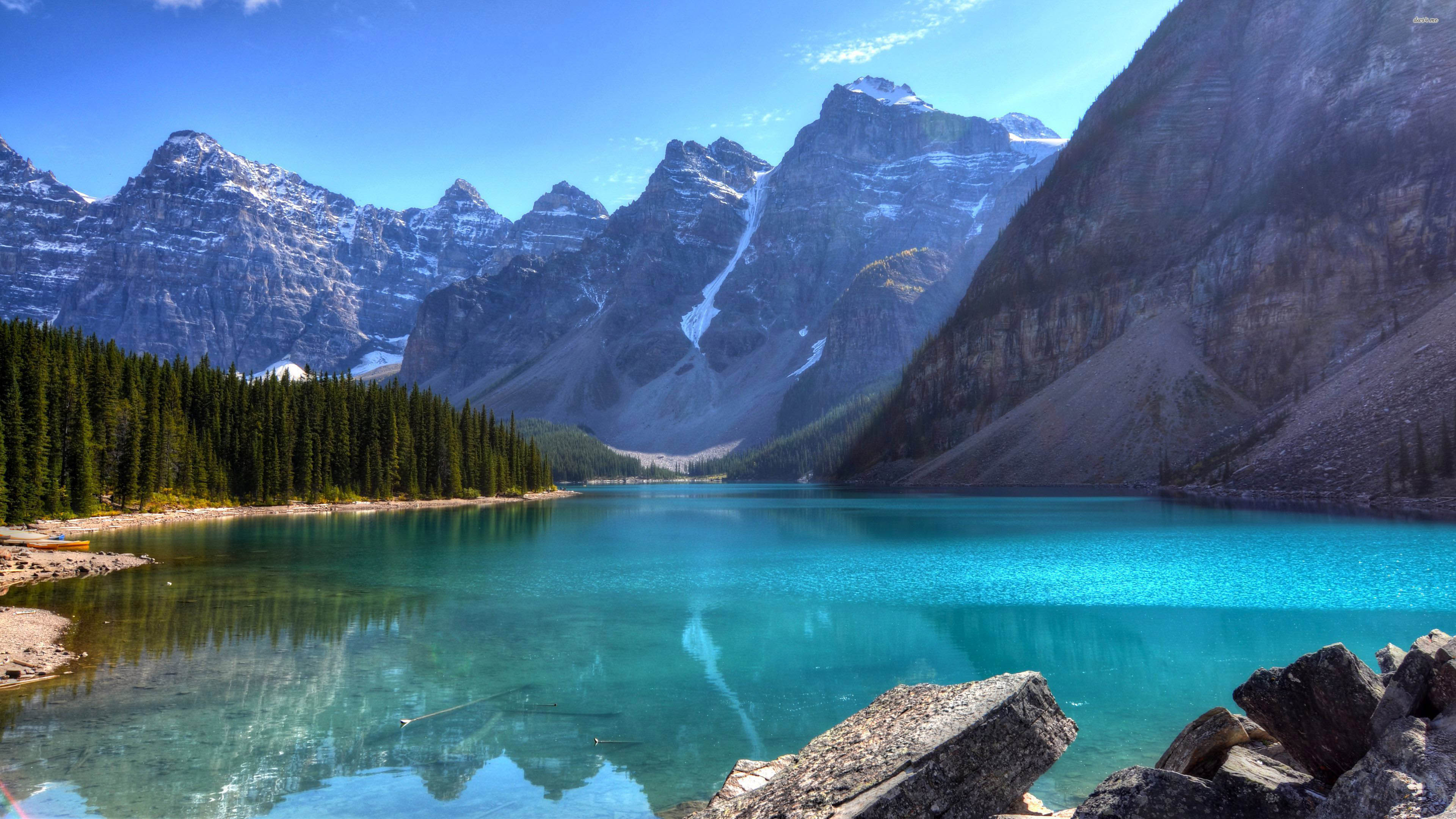 Beautiful Blue Mountain Lake 3840x2160 wallpaper 3840x2160